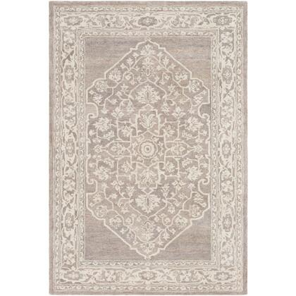 Mountain MOI-1018 8' x 10' Rectangle Traditional Rug in Camel  Khaki  Charcoal