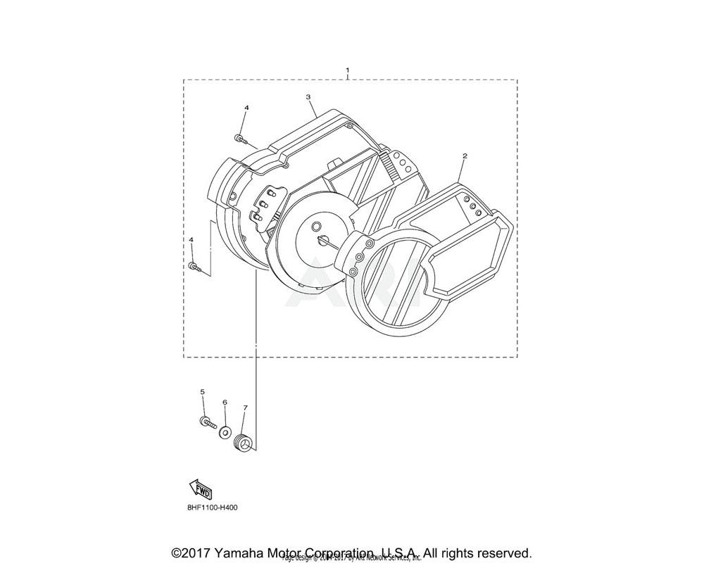 Yamaha OEM 8FP-8353E-00-00 CASE, METER UPPER