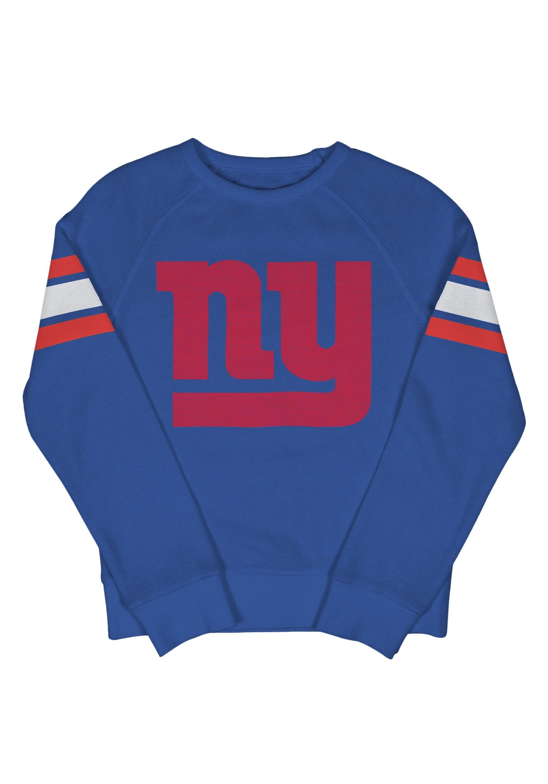 New York Giants Kids Fleece Blue Crewneck Sweater