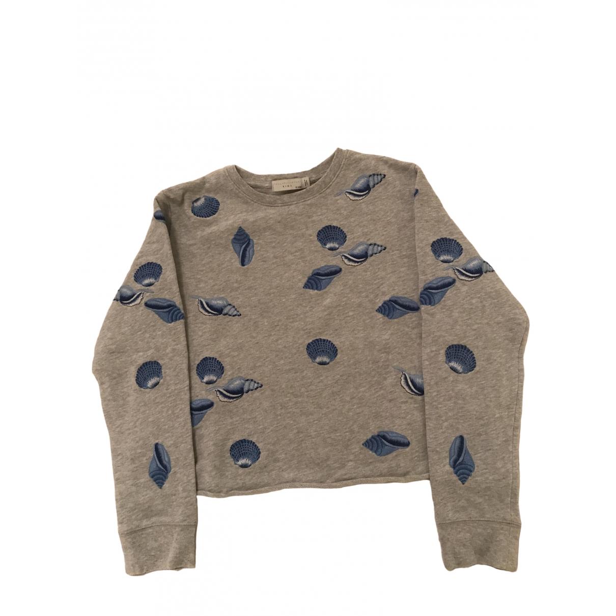 Stella Mccartney Kids - Pull   pour enfant en coton - gris