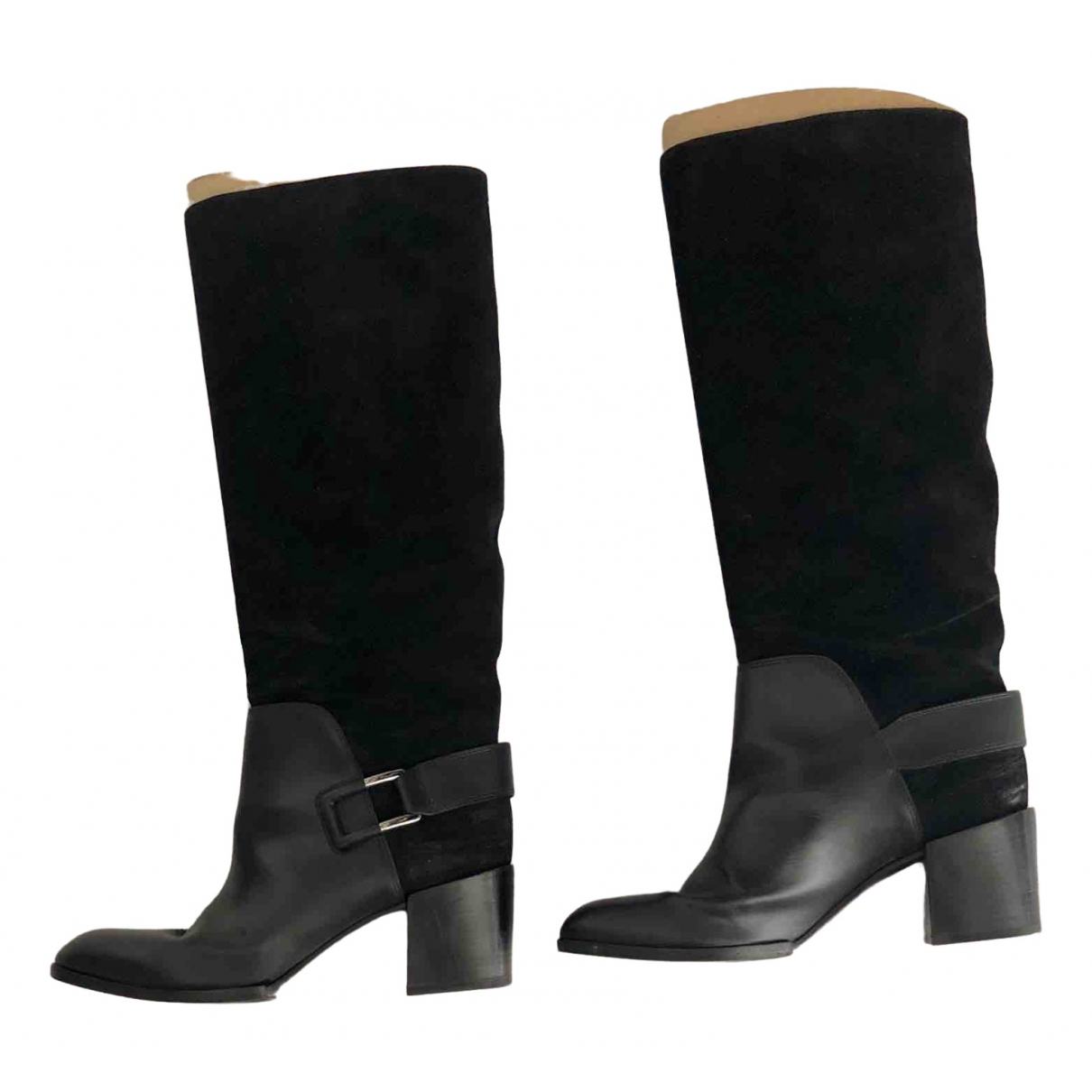 Sergio Rossi \N Black Leather Boots for Women 40 EU