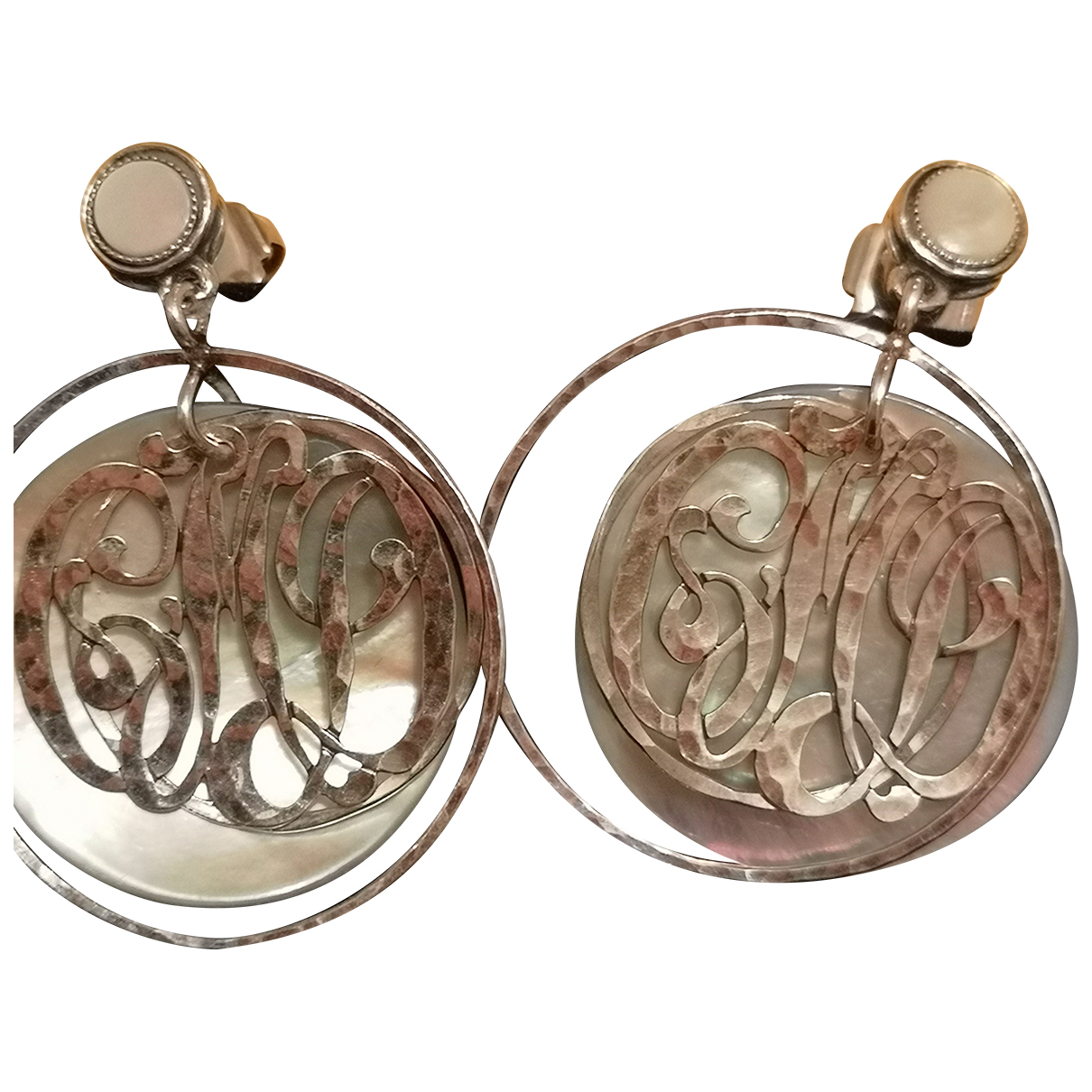 Gas - Boucles doreilles   pour femme en perle - argente