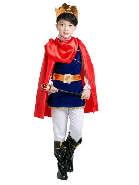 Milanoo Kids' Halloween Costume Boys Red Prince Costume Set In 7 Pieces Halloween