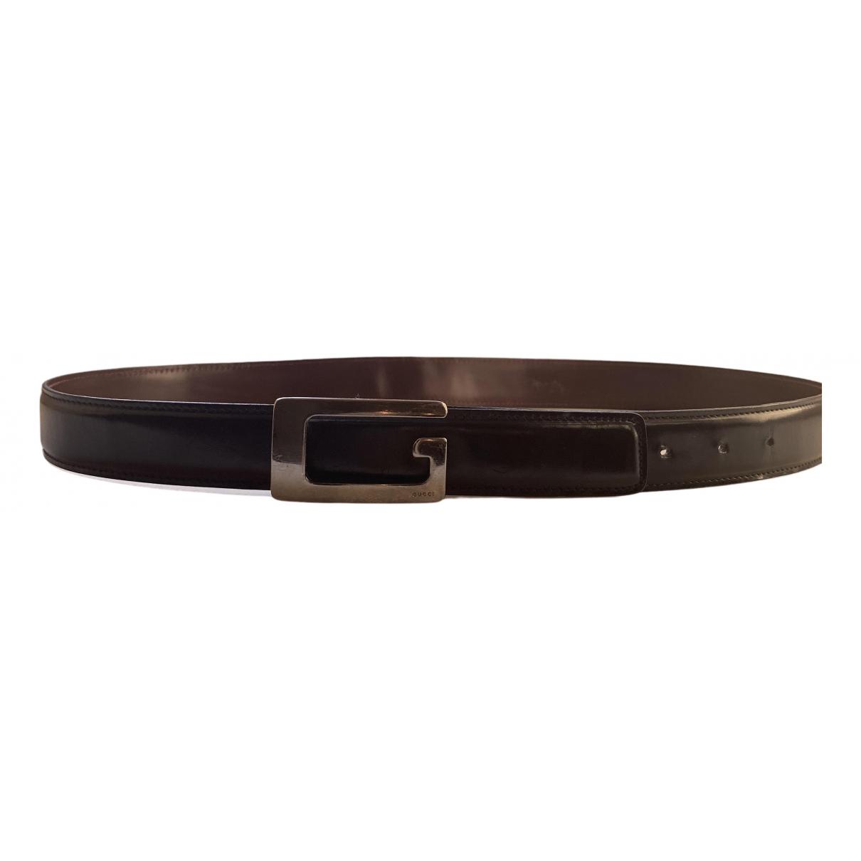 Gucci \N Black Leather belt for Men 90 cm