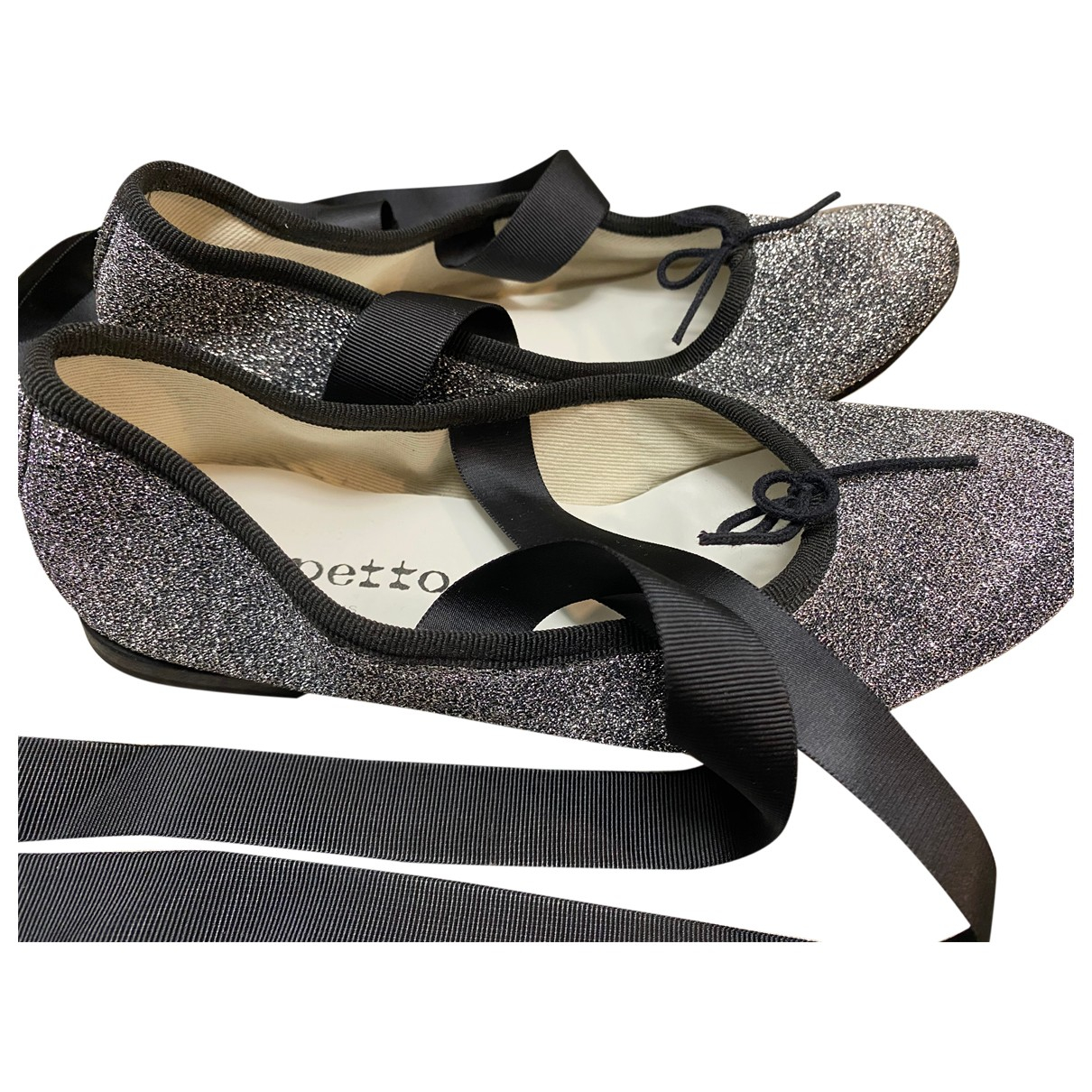 Repetto \N Grey Glitter Ballet flats for Women 36.5 EU