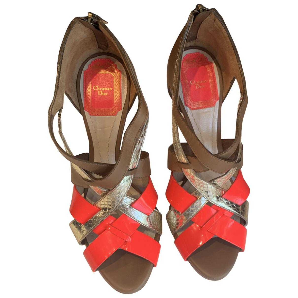 Dior - Sandales   pour femme en cuir - multicolore