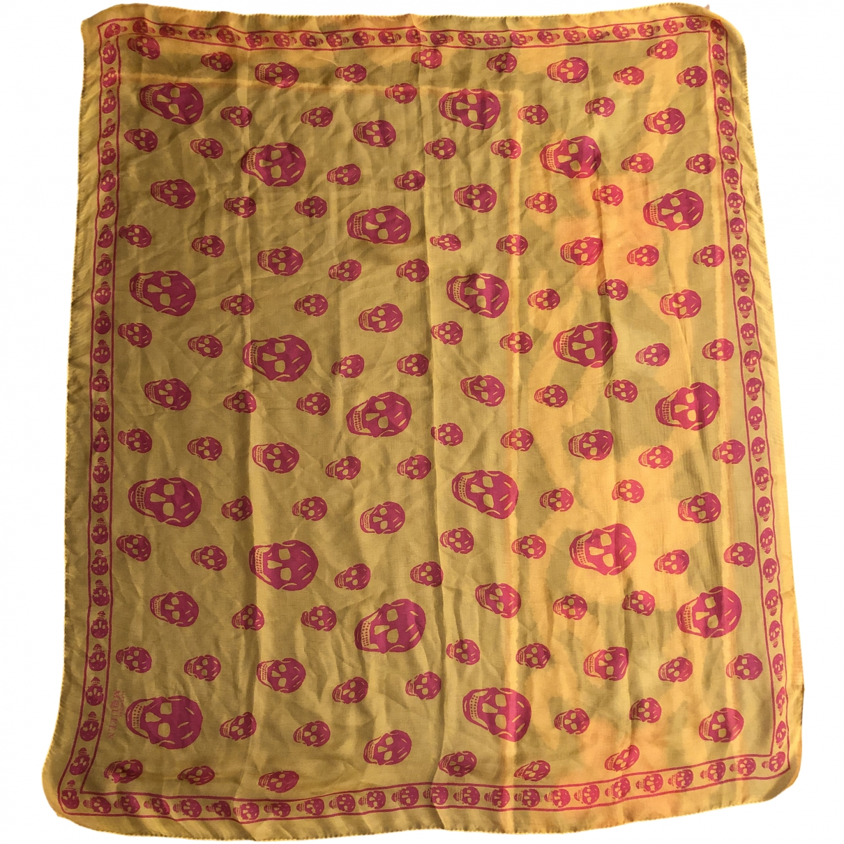 Alexander Mcqueen \N Yellow Silk scarf for Women \N