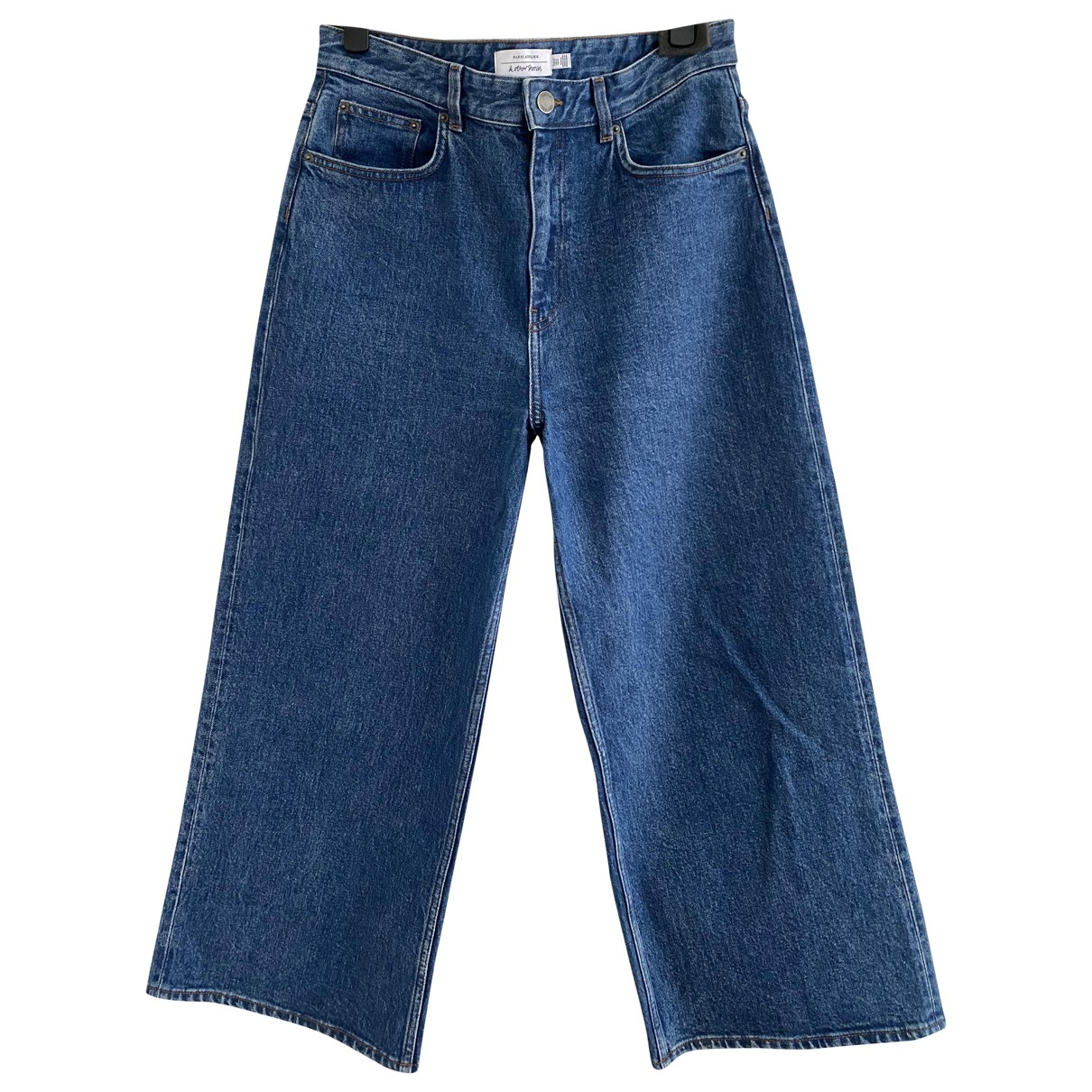 & Stories \N Blue Cotton - elasthane Jeans for Women 31 US
