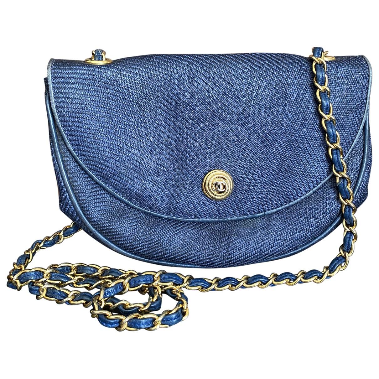 Chanel \N Navy Cloth handbag for Women \N