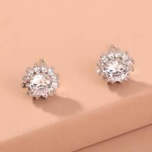 Pendientes con tachuela con diamante de imitacion
