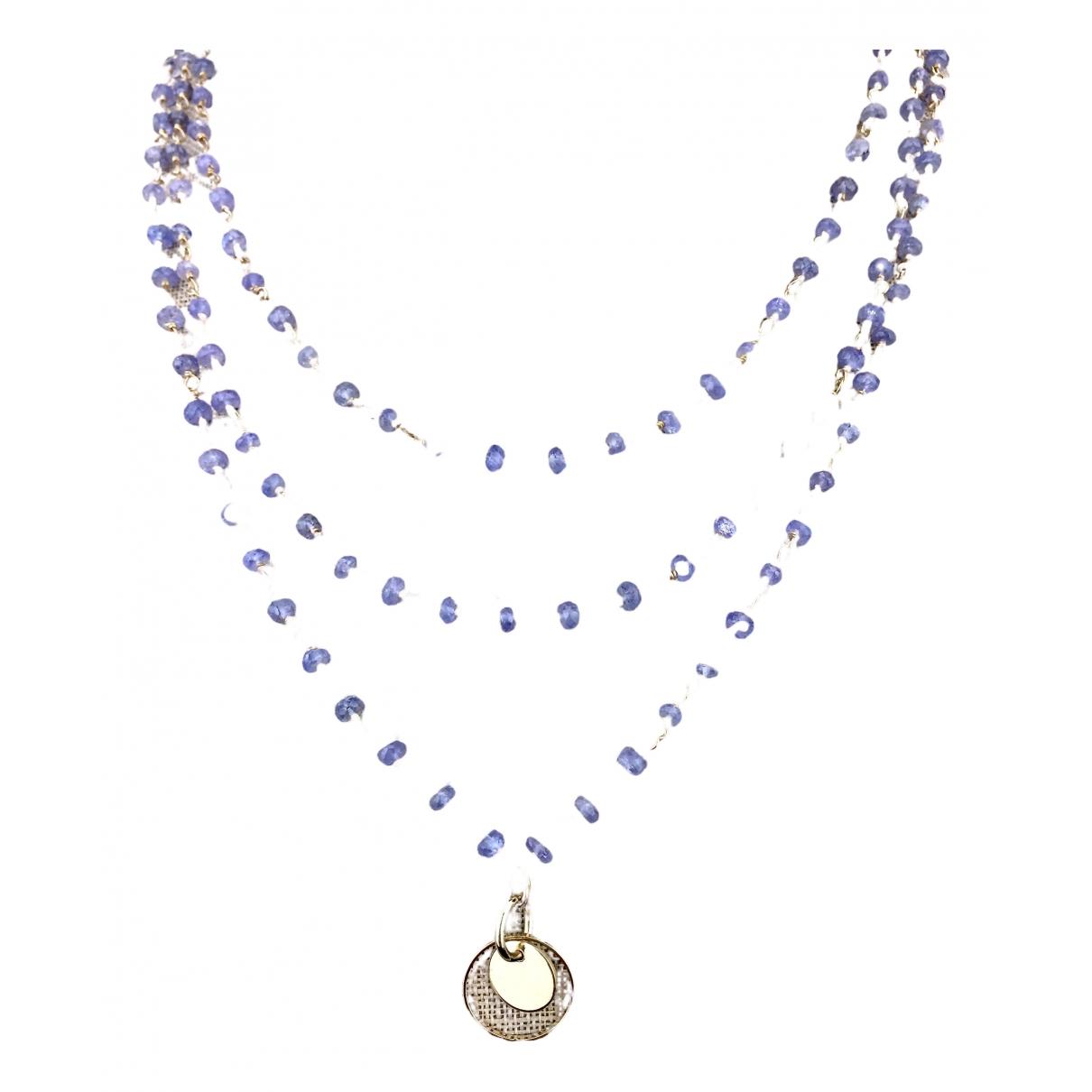 Non Signe / Unsigned \N Halskette in  Blau Vergoldet