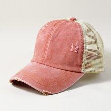 Baseball Hut mit Riss