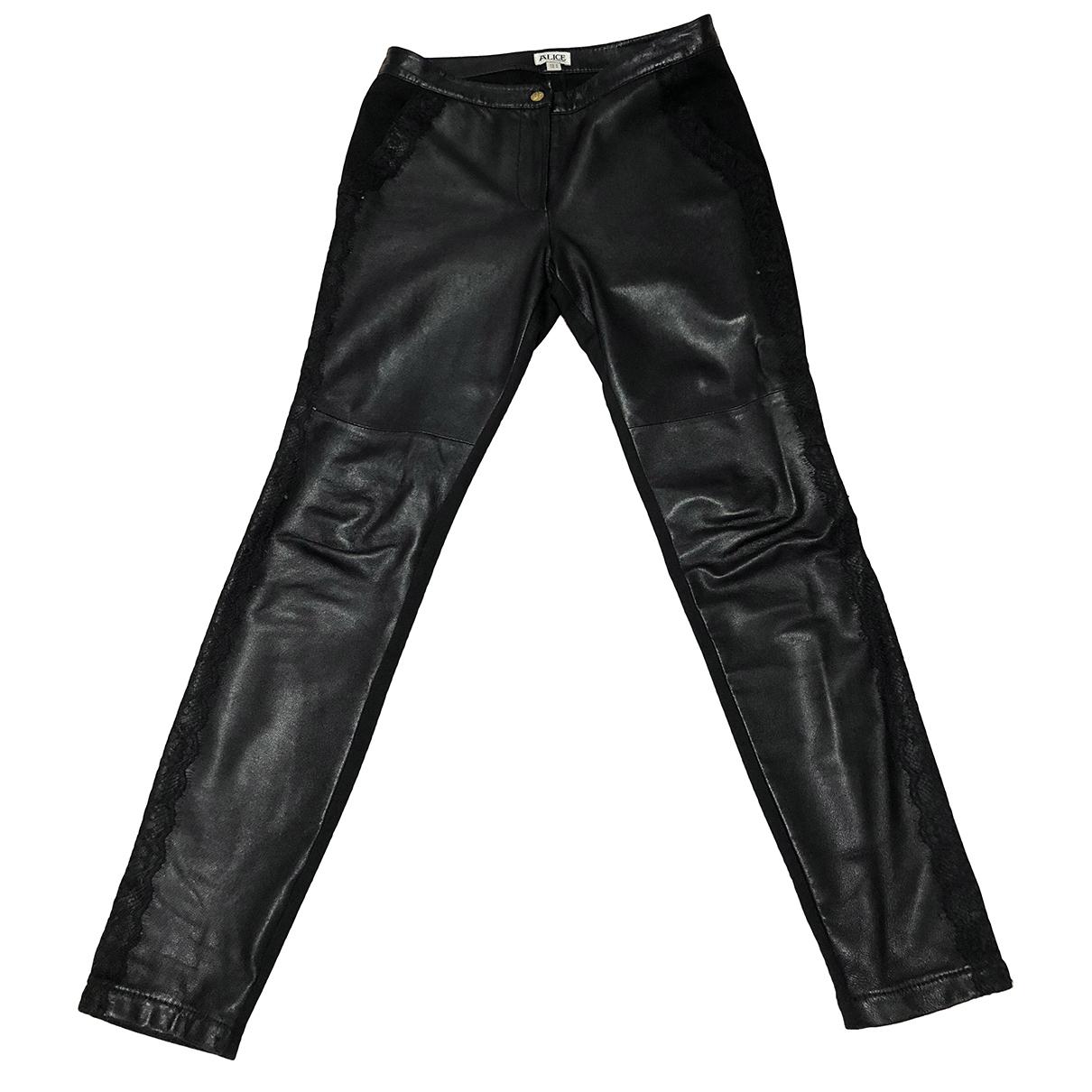 Pantalon recto de Cuero Alice By Temperley