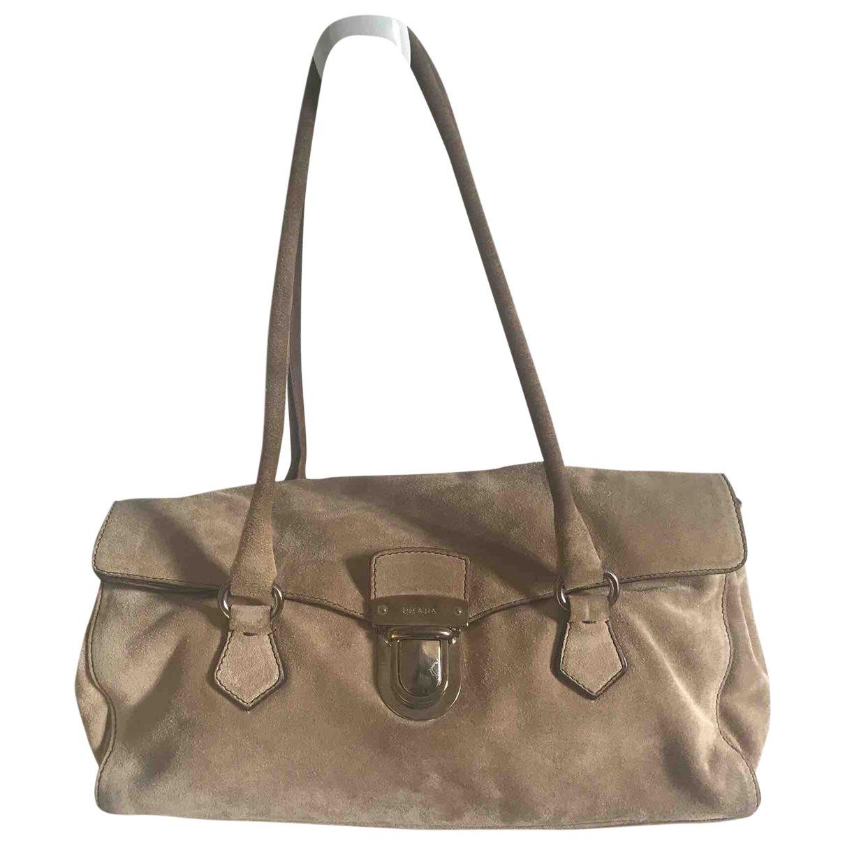 Prada \N Handtasche in  Beige Veloursleder