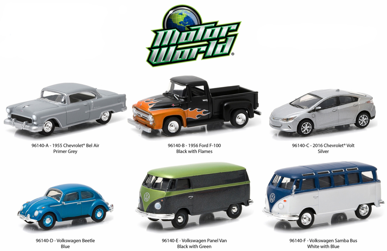 Motor World Series 14 6 piece Set 1/64 Diecast Model Cars by Greenlight