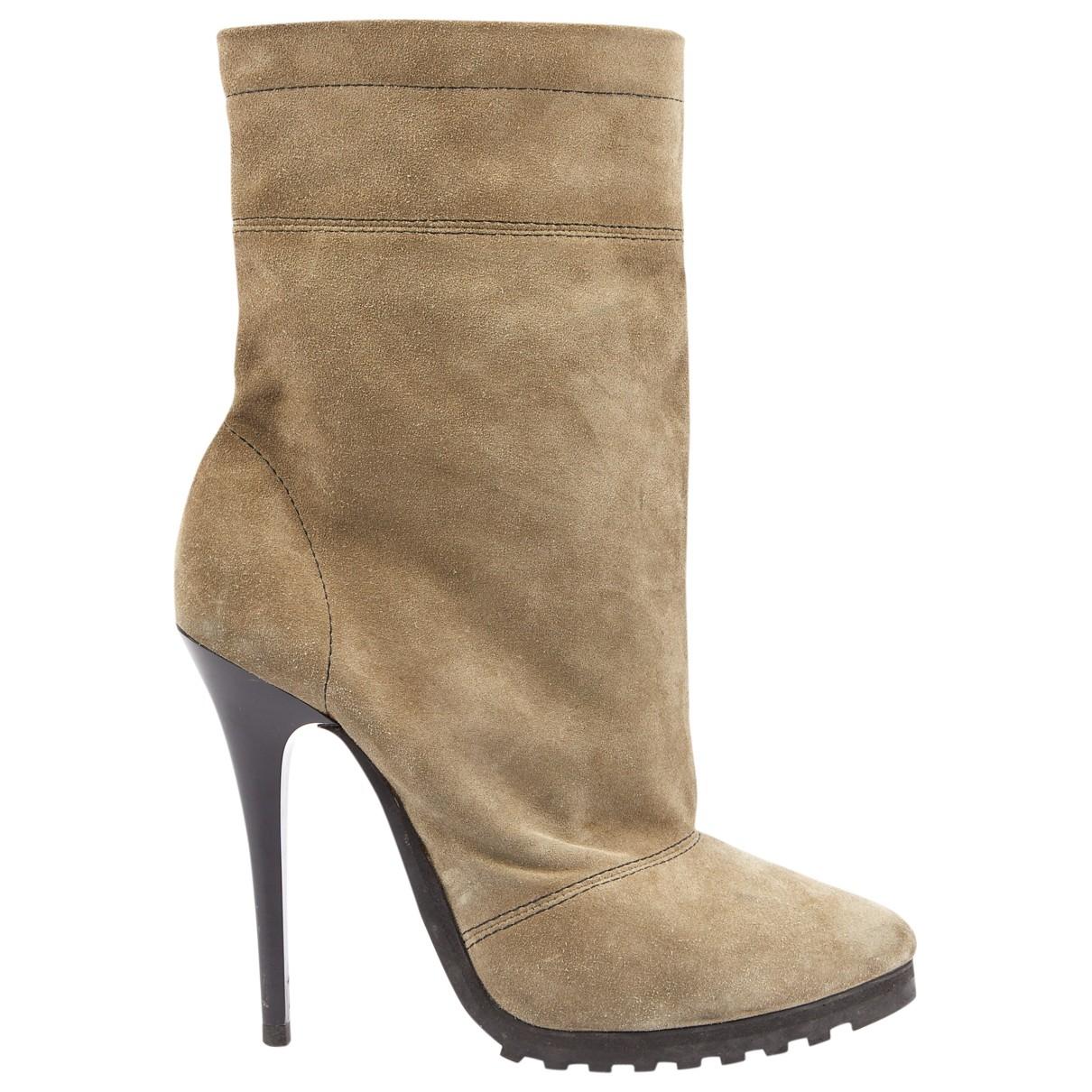 Giuseppe Zanotti - Boots   pour femme en suede - kaki