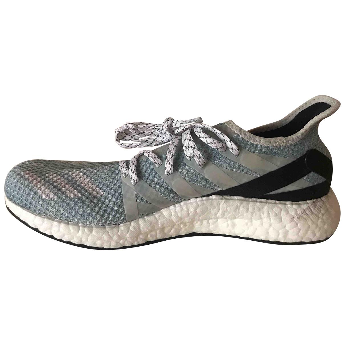 Adidas \N Sneakers in  Tuerkis Leinen