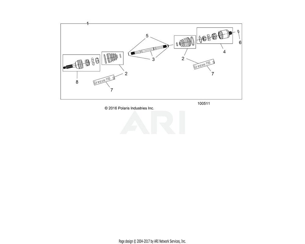 Polaris OEM 2205561 GREASE, CE