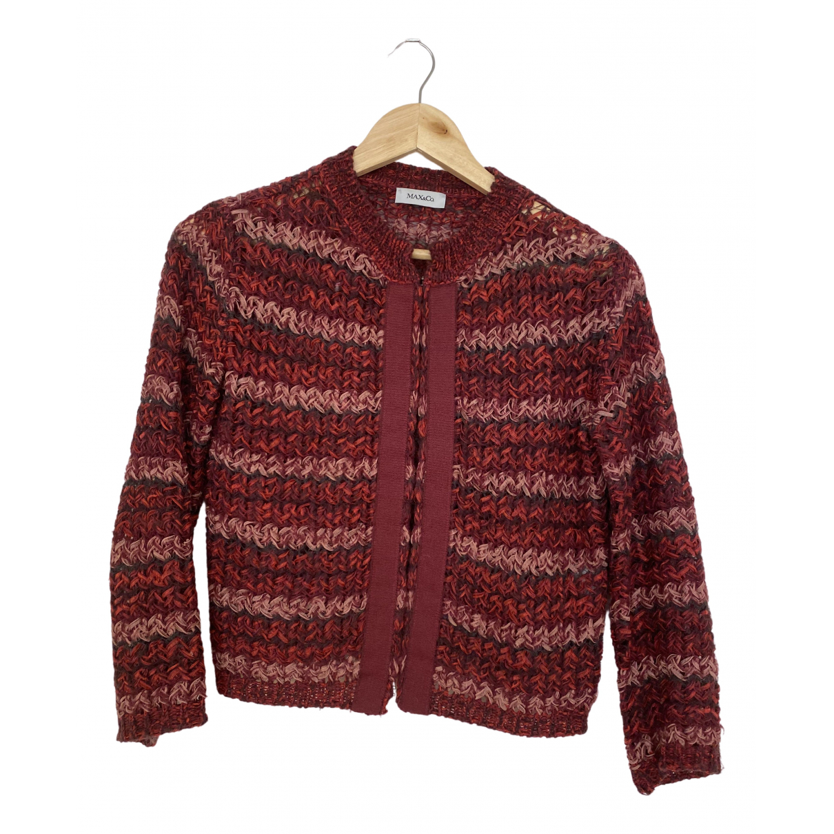 Max & Co \N Pullover in  Bordeauxrot Baumwolle
