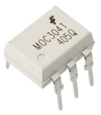 ON Semiconductor , MOC3041M DC Input Triac Output Optocoupler, Through Hole, 6-Pin DIP (50)