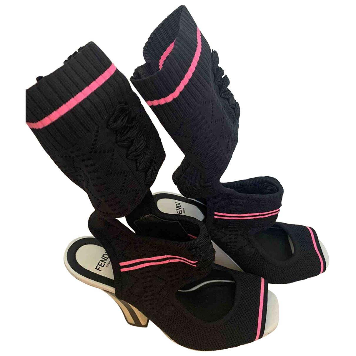 Fendi \N Black Sandals for Women 37 EU