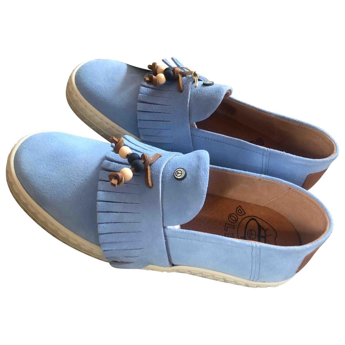 Dolfie \N Turquoise Suede Flats for Women 40 EU