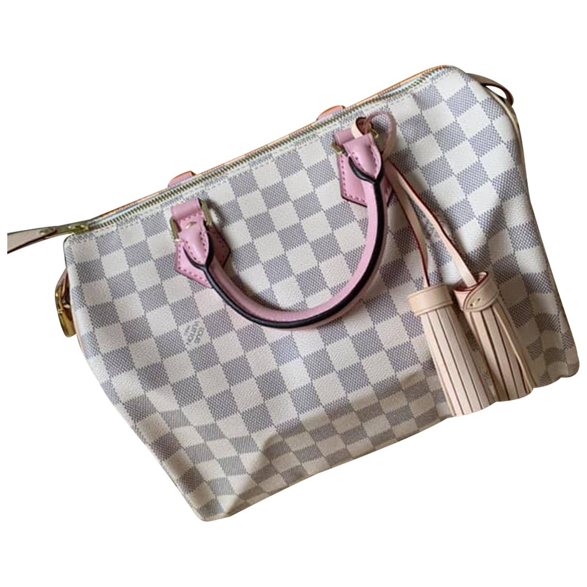 Louis Vuitton Speedy Bandoulière Ecru Cloth handbag for Women \N