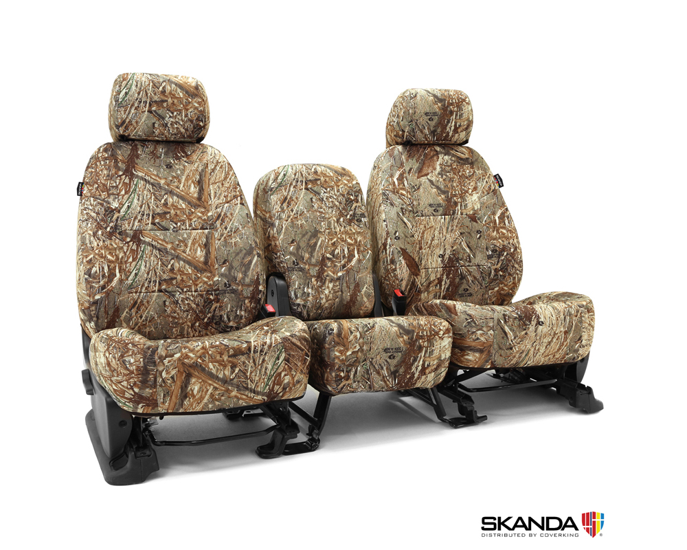 Coverking CSCMO05TT7174 Skanda Custom Seat Covers 1 Row Neosupreme Mossy Oak Duck Blind Solid Rear Toyota Tacoma 2005-2009