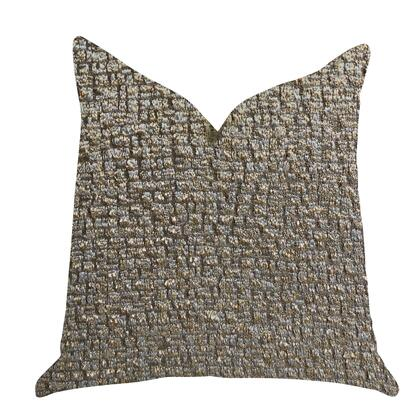 Gold Leaf Collection PBRA1382-2626-DP Double sided  26 x 26 Plutus Moondust Radiance Luxury Throw Pillow in Gold