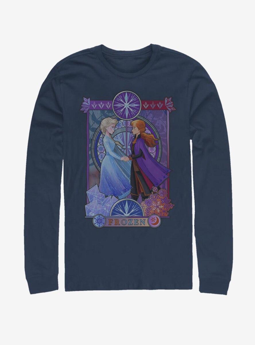Disney Frozen 2 Anna And Elsa Nouveau Long-Sleeve T-Shirt