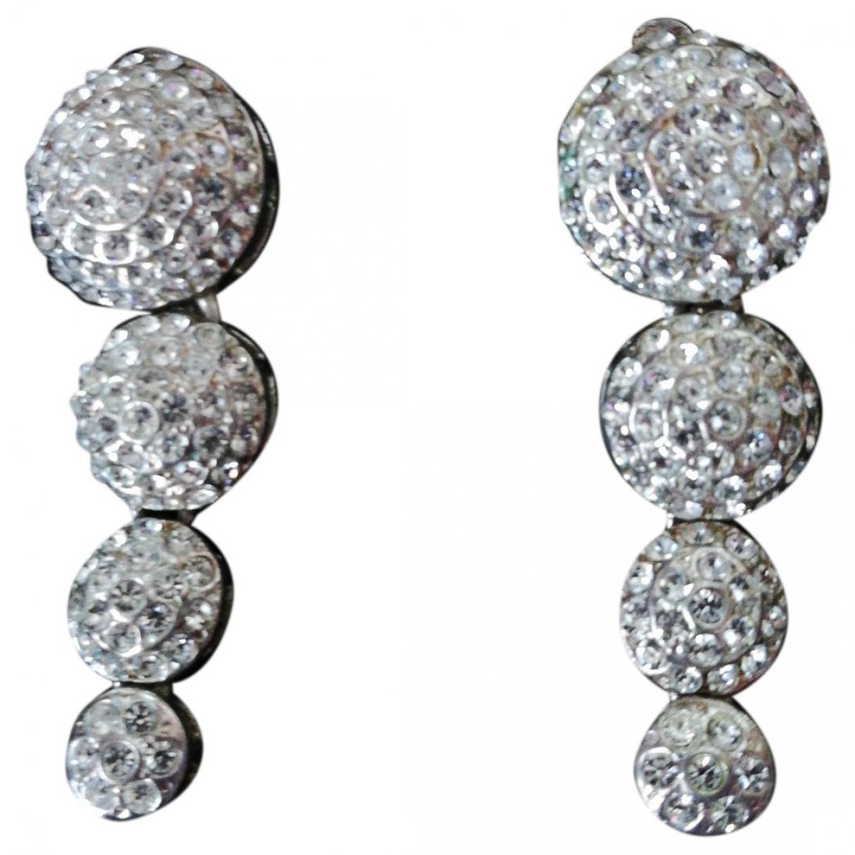 - Boucles doreilles Art Deco pour femme en cristal - argente