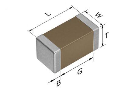 TDK 0603 (1608M) 2.2nF Multilayer Ceramic Capacitor MLCC 50V dc ±10% SMD CGA3E2X8R1H222K080AD (4000)