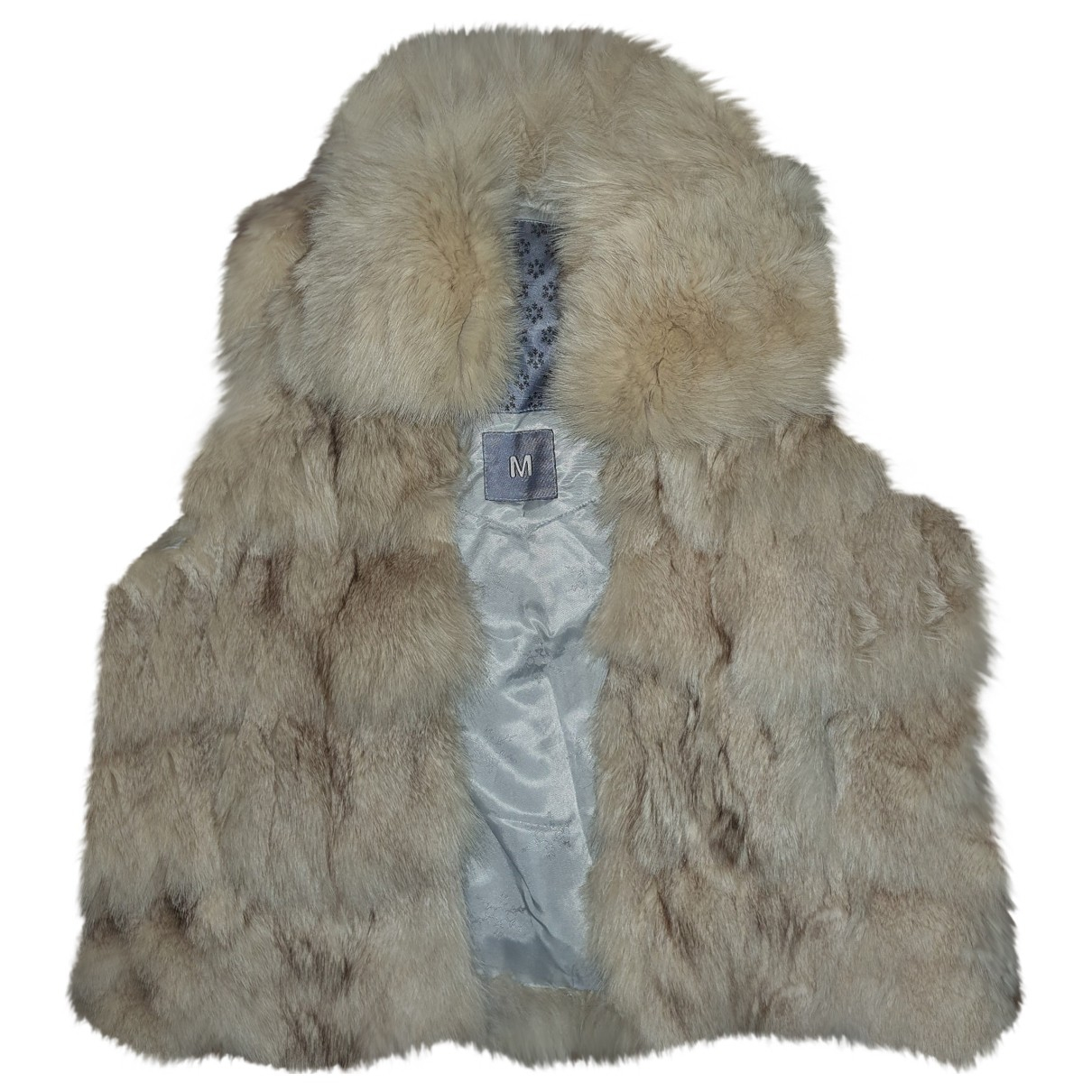- Veste   pour femme en renard - beige