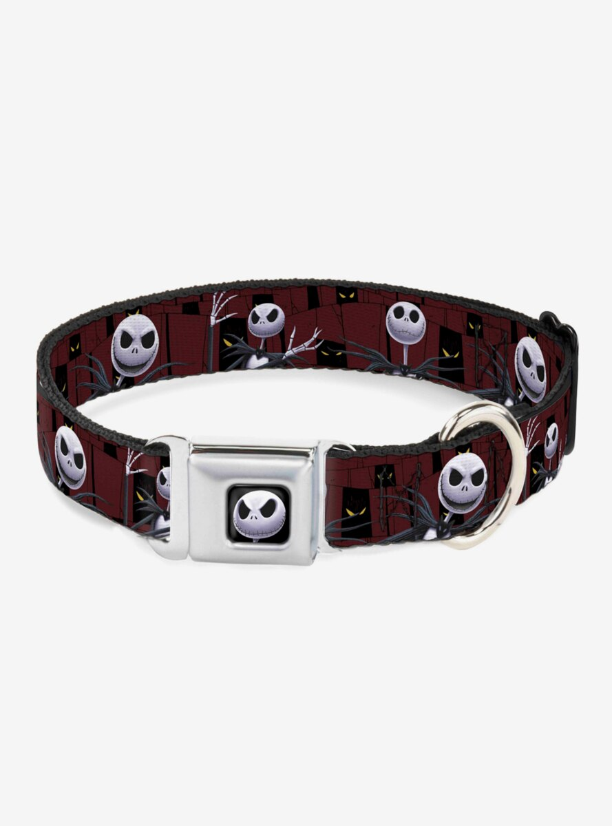 The Nightmare Before Christmas Jack Poses Peeping Eyes Dog Collar Seatbelt Buckle