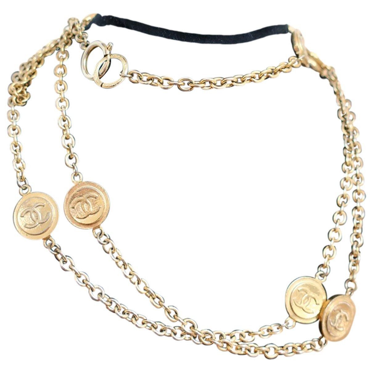 Chanel CC Gold Metal Long necklace for Women \N