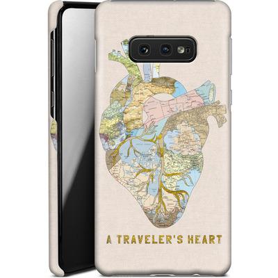 Samsung Galaxy S10e Smartphone Huelle - A Travelers Heart von Bianca Green