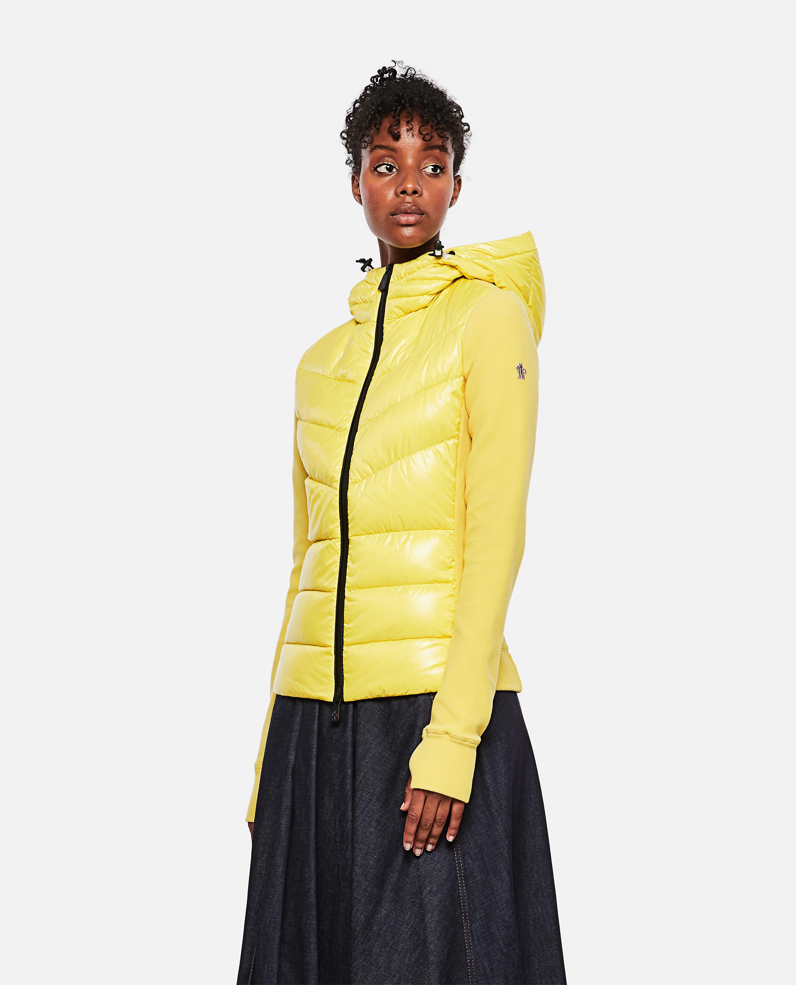 Stretch fleece and nylon sweatshirt