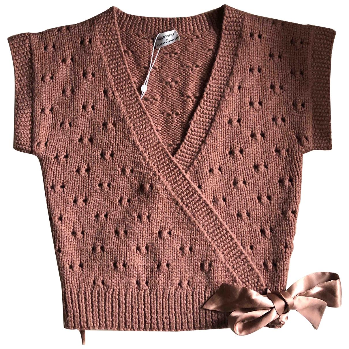 Philosophy Di Alberta Ferretti - Pull   pour femme en laine - rose