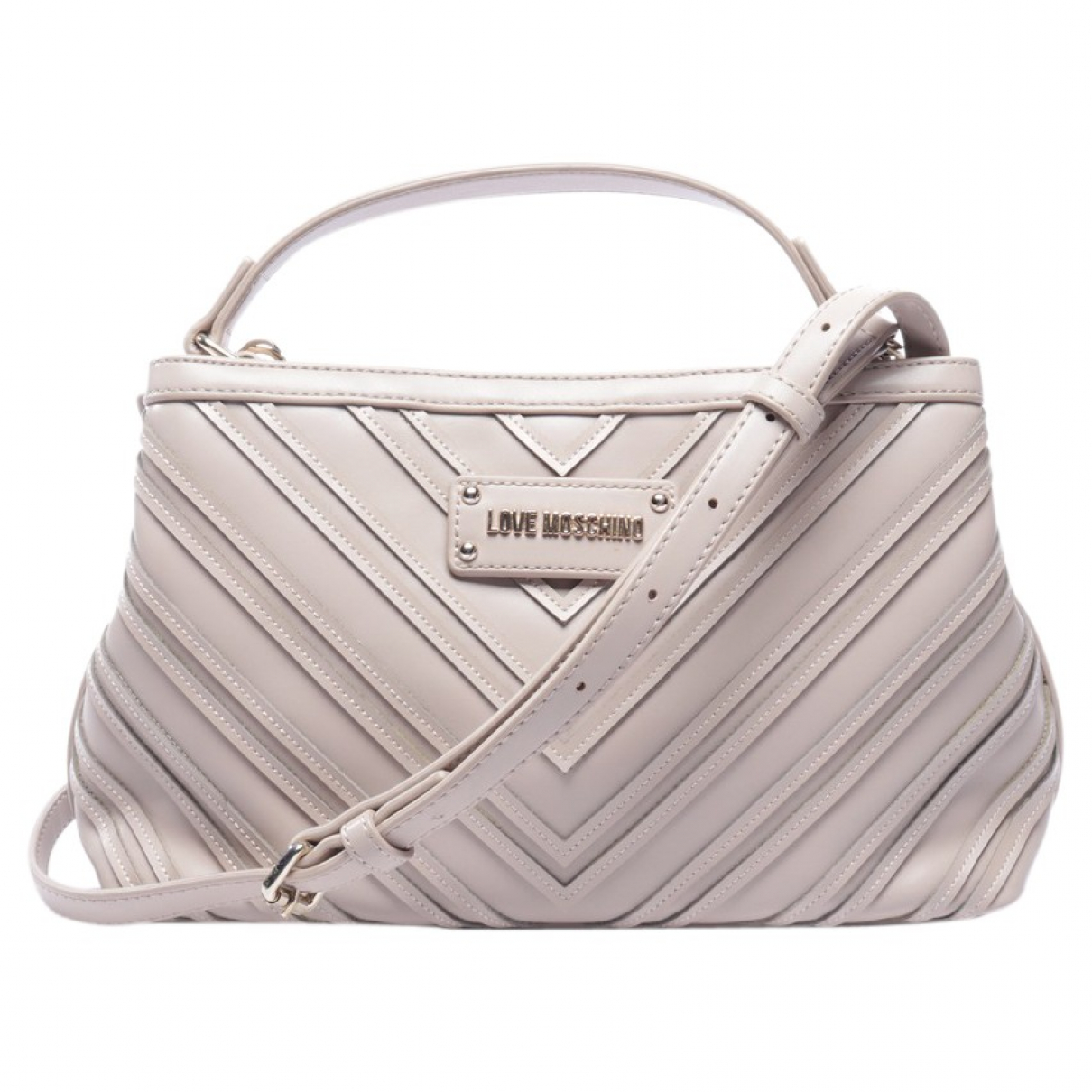 Moschino Love N Brown Leather handbag for Women N