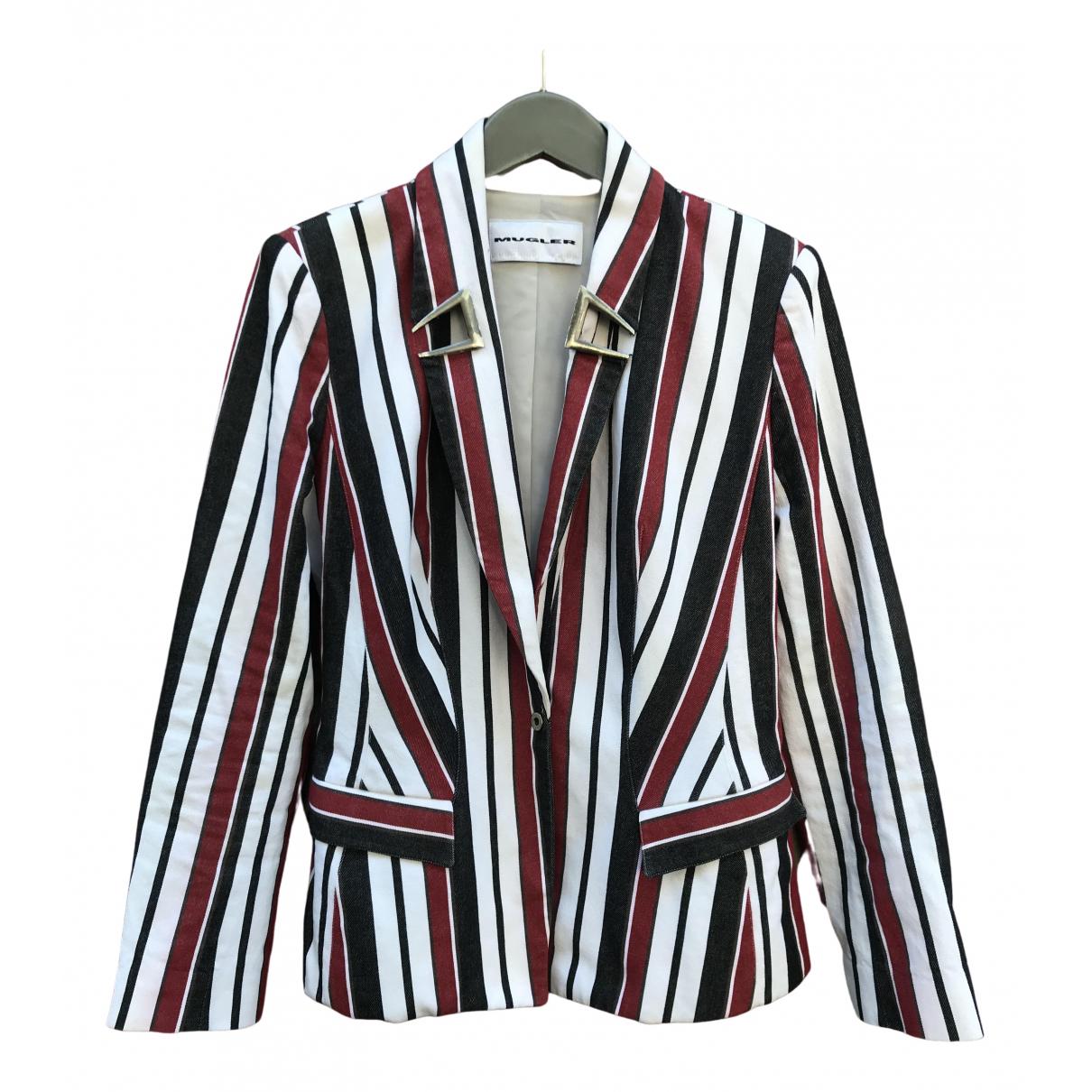 Thierry Mugler \N White Cotton jacket for Women 38 FR