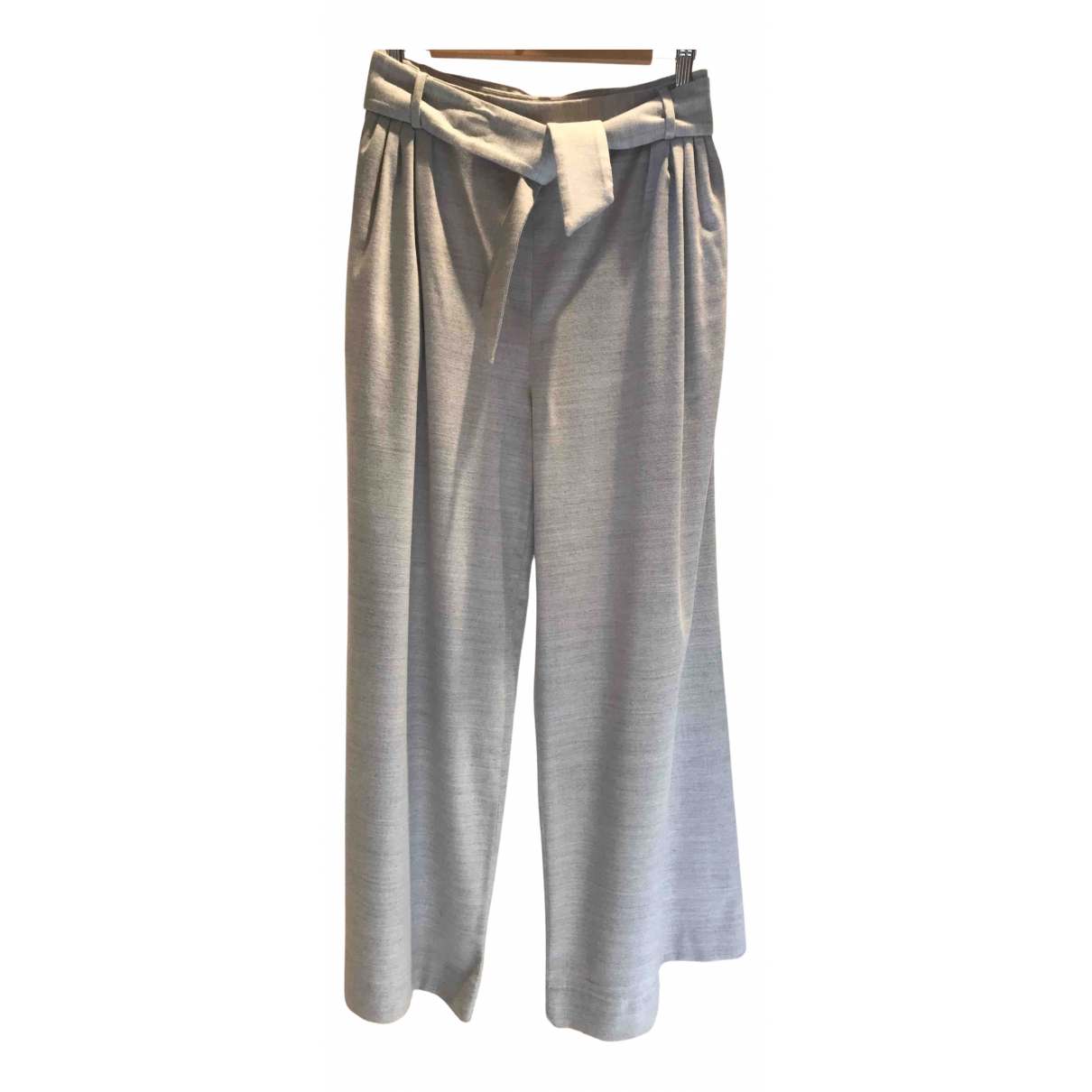 Fabiana Filippi N Grey Wool Trousers for Women 38 IT