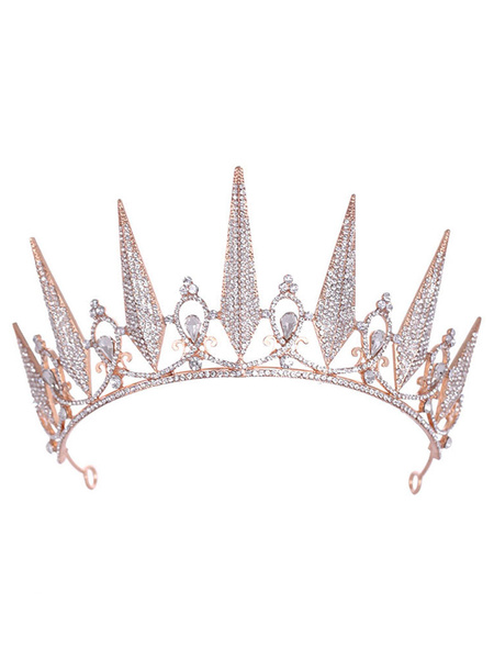 Milanoo Headpiece Wedding Tiara Metal Hair Accessories For Bride