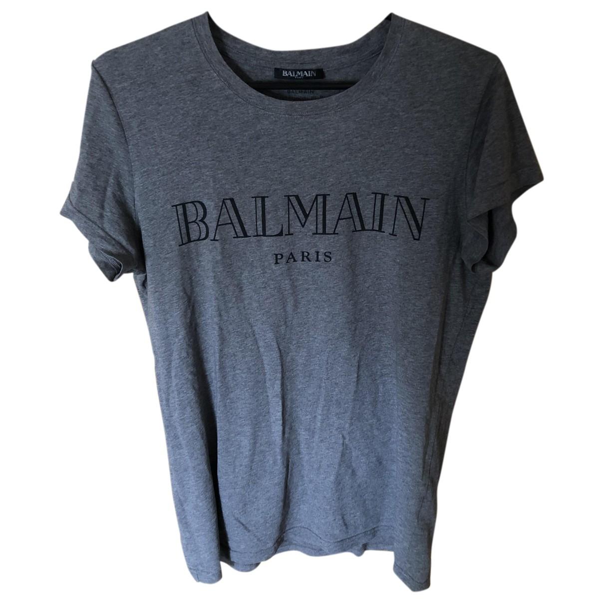 Balmain N Grey Cotton T-shirts for Men XS International