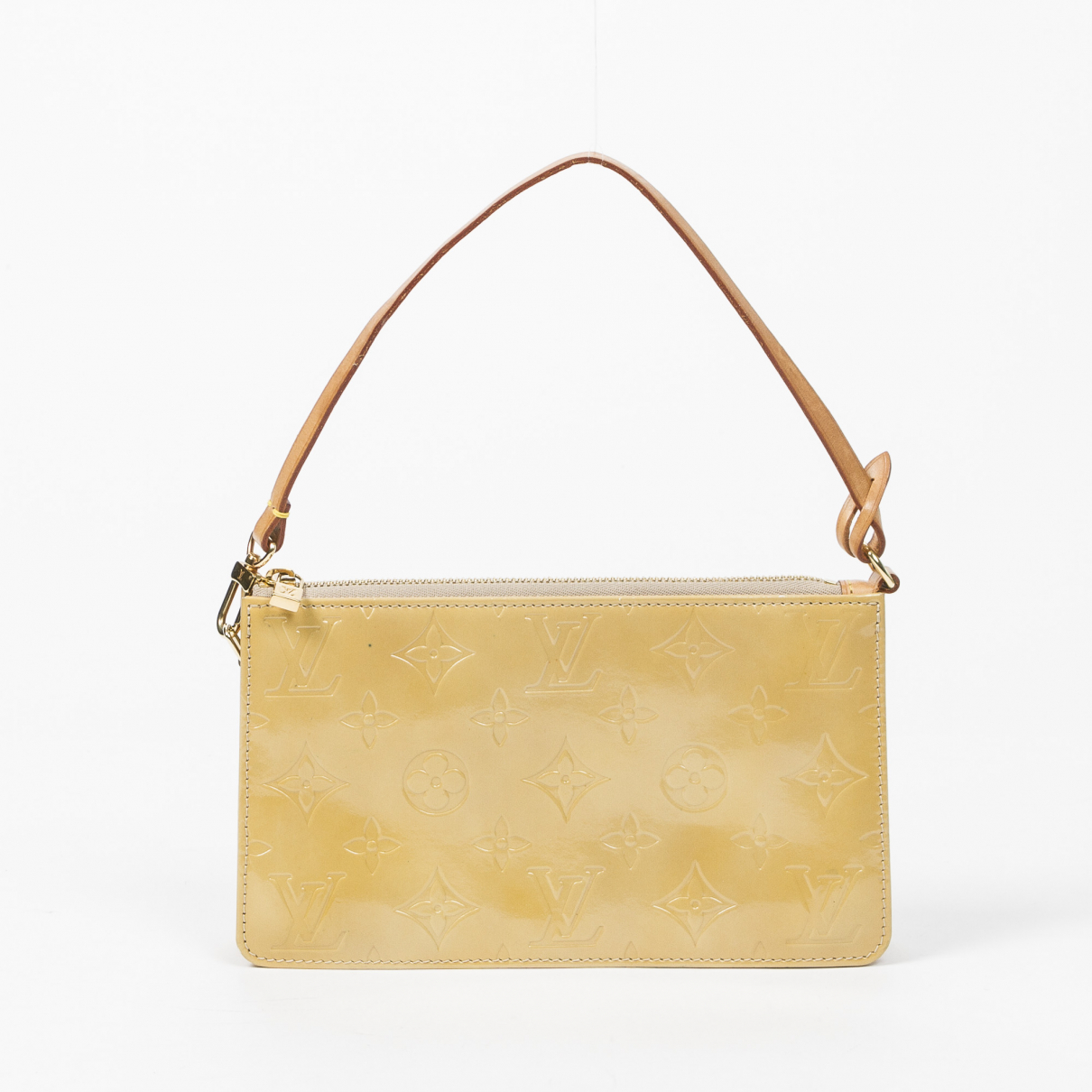 Louis Vuitton Lexington Clutch in  Beige Lackleder