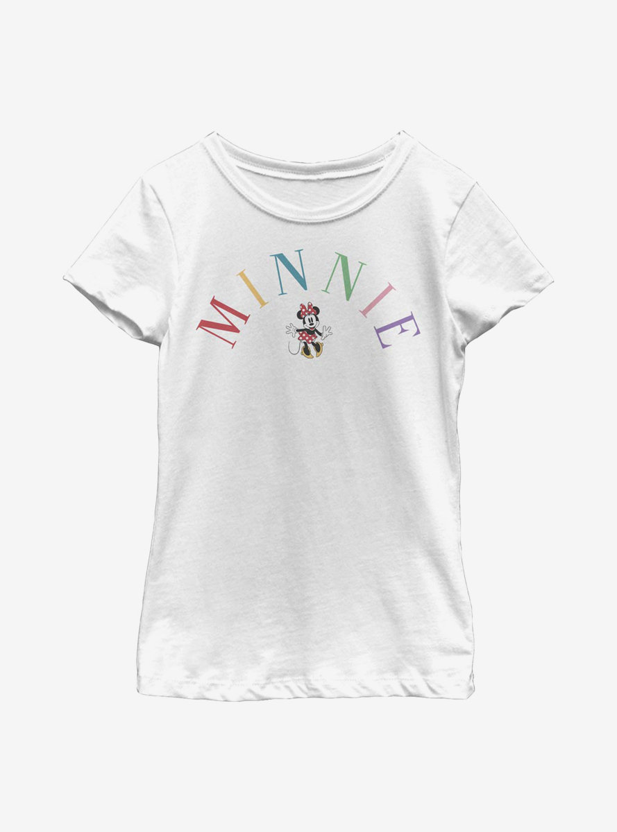 Disney Minnie Mouse Embroidery Youth Girls T-Shirt