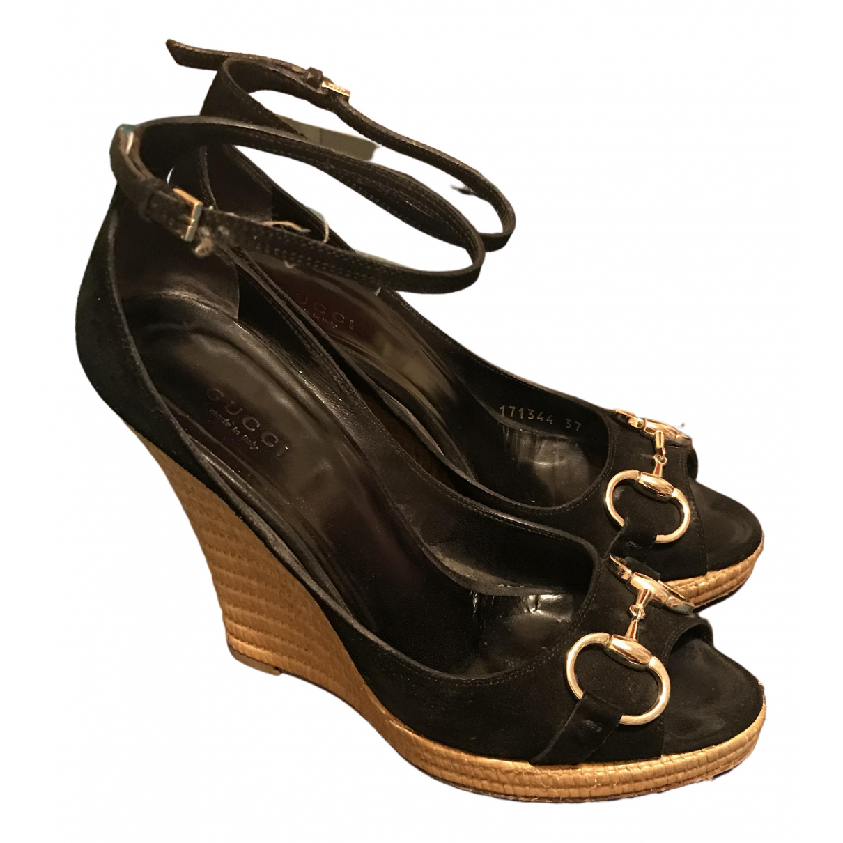 Gucci \N Black Suede Sandals for Women 37 IT