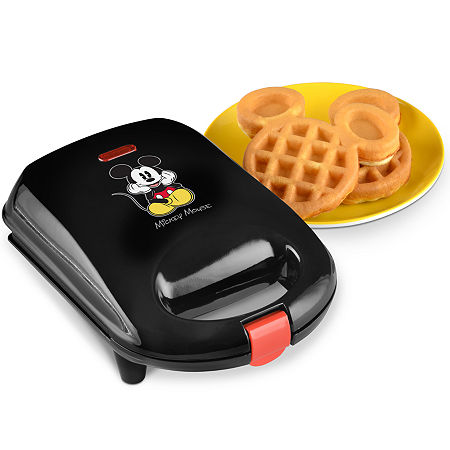 Disney Classic Mickey Mouse Mini Waffle Maker, One Size , Black