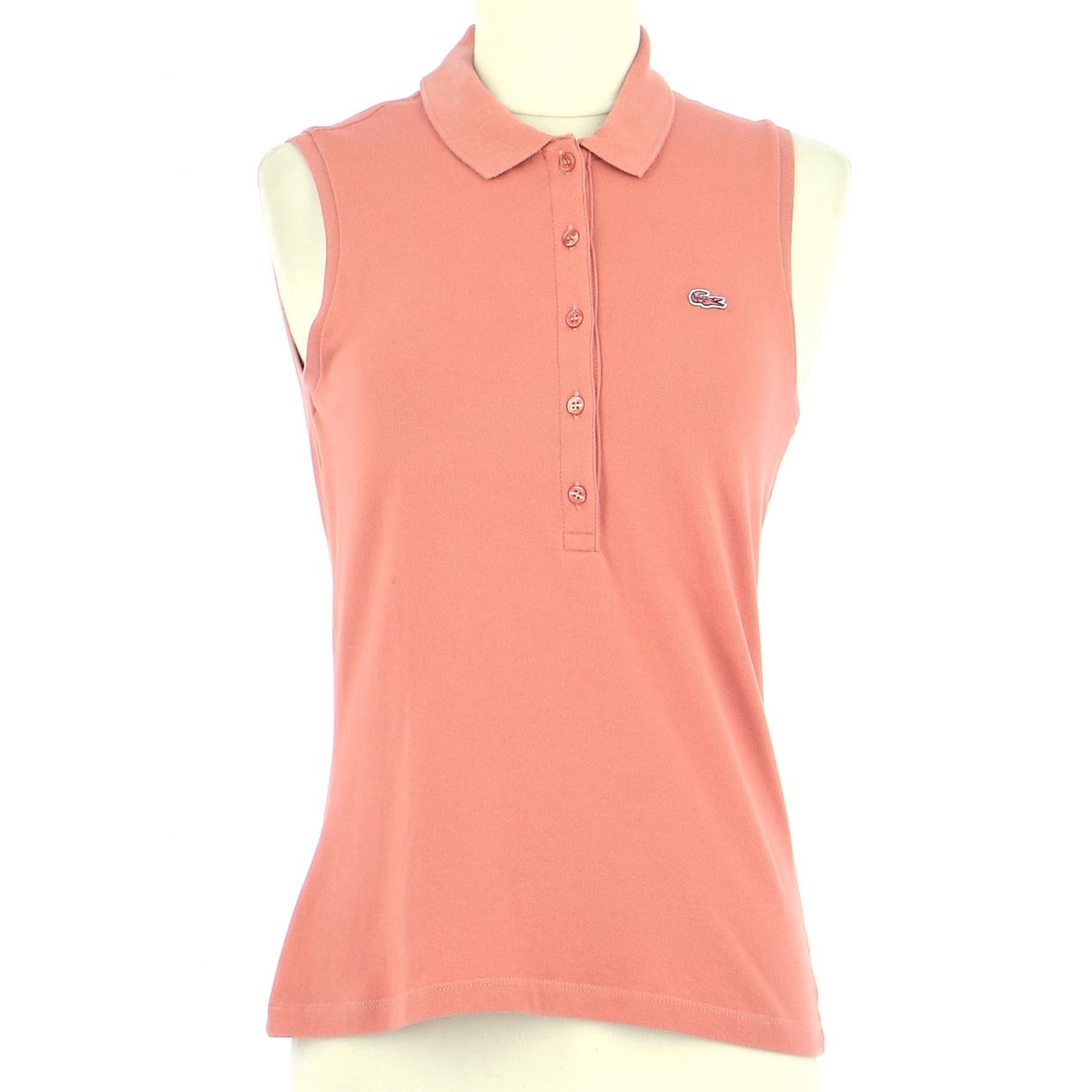 Lacoste N Orange Cotton  top for Women 36 FR