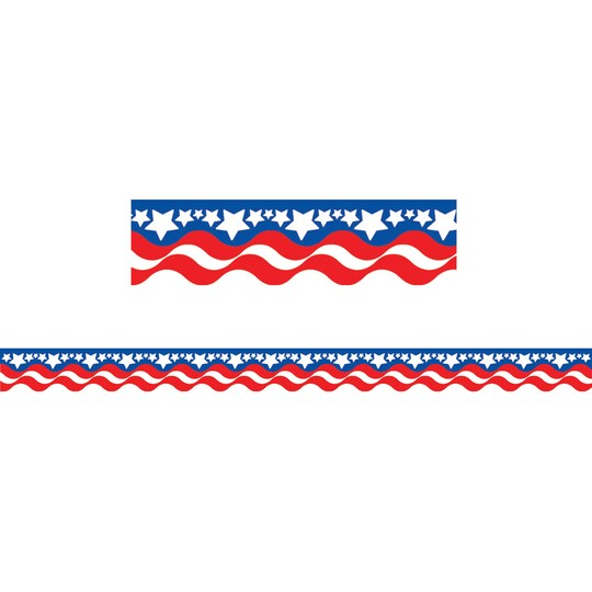 Teacher Created Resources Patriotic Scalloped Borders, 420Ft   Michaels®