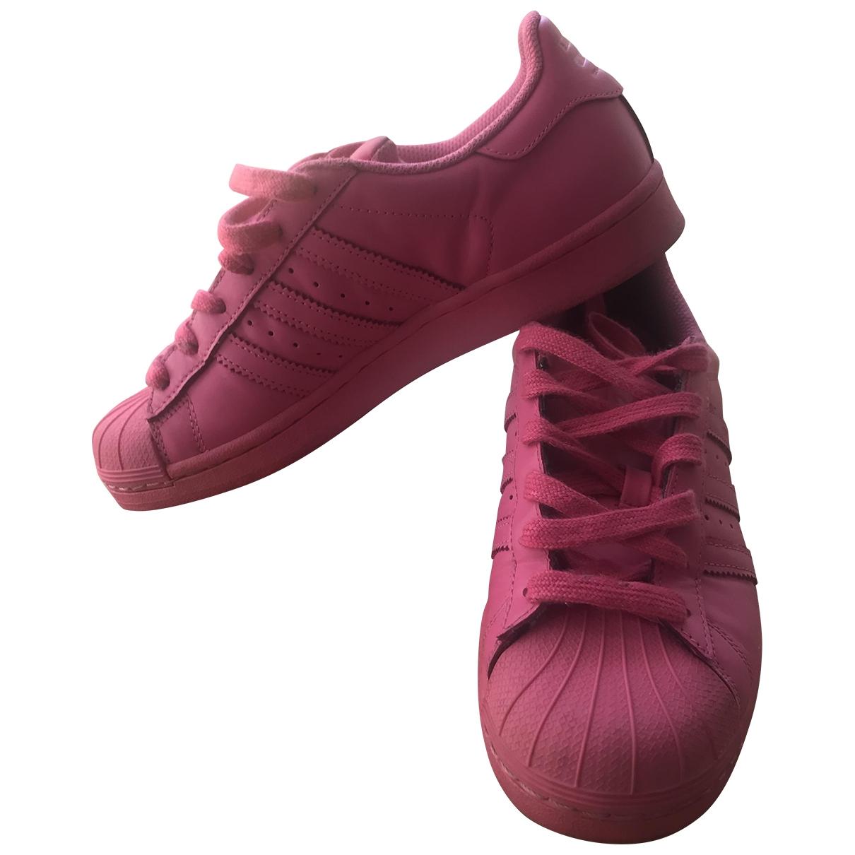 Adidas X Pharrell Williams \N Sneakers in  Rosa Leder